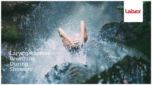Laryngectomee Breathing During Showers